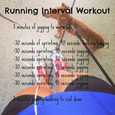Running Interval Workout- exactly what I was looking for