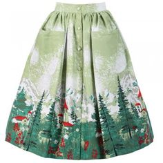 Lindy Bop 'Adalene' Green Alpine Swing Skirt.. not sure if I could pull this off but I love it!