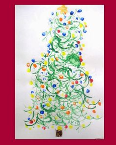 3. Christmas Print Trees This is a great creative activity for the preschool set. All you need is toilet paper rolls (to make the swirly print), paint and a set of little hands. Head over to Creativity First for more info.