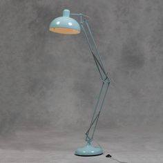 This stunning sky blue Extra Large Classic Desk Style Floor Lamp is available now form Red Floor Lamp, Retro Floor Lamps, Arc Floor Lamps, Modern Floor Lamps, Spotlight Floor Lamp, Traditional Floor Lamps, Desk Styling, Desk In Living Room, Adjustable Floor Lamp