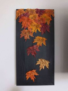 DIY: Fall Leaf Canvas Designing for less Fall diy, Fall canvas diy fall leaf crafts - Diy Fall Crafts Fall Home Decor, Autumn Home, Dyi Fall Decor, Fall Decorations Diy, Fall Bedroom Decor, Modern Fall Decor, Autumn Leaves Craft, Leaf Crafts, Decoration Originale