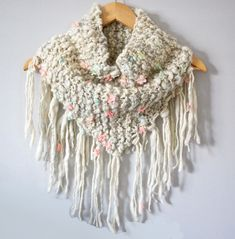 Ravelry: Keep Me Cozy Fringe Cowl by Susan Sheby