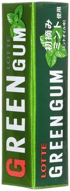 """156 = Lotte """"Green Gum"""" жевательная резинка, 26 г в интернет-магазине OZON.ru"""