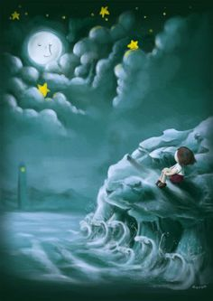 * Man In The Moon my favorite! everytime i look @ the moon i remember this story and i look for the face