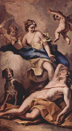 Sebastiano Ricci - Selene and Endymion, c. 1713