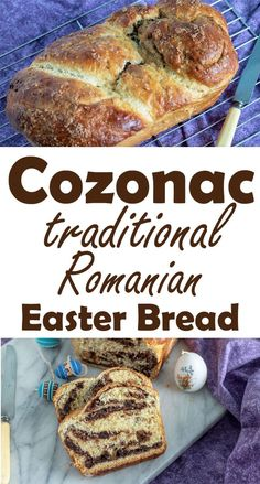 Cozonac is a traditional Romanian Easter Bread that is fun to make and ridiculously delicious! A sweetened bread that is rolled with chocolate and raisins. Romanian Recipes, Turkish Recipes, Romanian Food Traditional, Romania Food, Romanian Desserts, Easter Dinner Recipes, European Cuisine, Scottish Recipes, Sweets