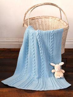 Little Boy Blue Baby Blanket   Yarn   Free Knitting Patterns   Crochet Patterns   Yarnspirations
