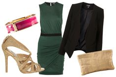Don't like the bangle, but the blazer can make the party dress work-worthy.