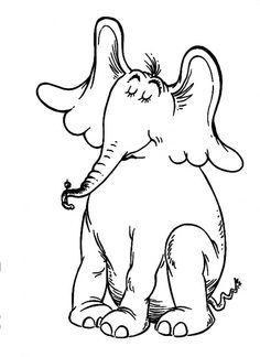 Horton The Elephant Closing His Eyes And Enjoying Day Dr Seuss Coloring Pages