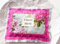 Mother's Day Pillow Lavender Sachet Appliqued Mom by Itsewbella