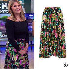 Black Floral Skirt, Floral Maxi, Jenna Bush Hager, Hoda Kotb, Today Show, High Waisted Skirt, Skirts, Women, Style