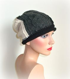 SALE  Hand Knit Hat  Three Colours Hat  knitted by InkaBoutique, $25.00