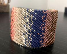 Peyote Bracelet, Seed Bead Bracelets, Seed Beads, Loom Bands, Peyote Stitch, Beaded Embroidery, Macrame, Jewelery, Bangles