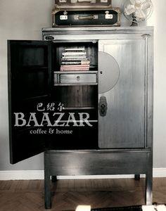 A-65 grått baazar wedding cabinet brudskåp bröllopsskåp kina skåp asiatiskt orientaliskt snyggt tufft attityd möbler antikt6