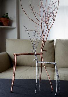Easy DIY Twig Reindeer