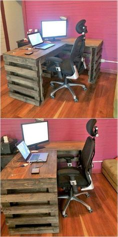 Wood pallets desk #pallets & holzpaletten schreibtisch & bureau de palettes en bois & escritorio de paletas de madera & wood pallets diy, wood pallets projects, wood pallets ideas, wood pallets birthday, wood pallets bed frame, wood pallets garden, wood pallets furniture, wood pallets signs, wood pallets backdrop, wood pallets decorations, wood pallets wedding, wood pallets table, wood pallets outdoor, wood pallets art, wood pallets crafts
