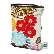 Planet Wise Wet Bags - April Flowers Small. Available at OurPamperedHome.com