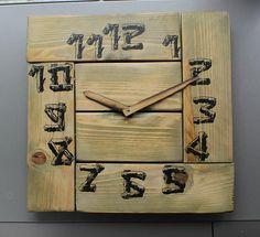 Wooden wall clock farmhouse clock rustic wall clock oversized wall clock modern wall clocks big clock large kitchen pallet wood clock