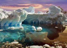 Iceberg in Antarctica by Sabry Mason