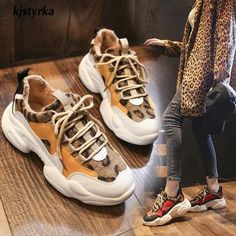 Kjstyrka 2019 new leopard mixed colors plush Fashion high quality women sneakers winter tenis feminino ladies wedges espadrilles - Black 40 Source by CreativeDreamscape shoes platform Winter Sneakers, Wedge Sneakers, Casual Sneakers, Platform Sneakers, Sneakers Fashion, Shoes Sneakers, Leopard Sneakers, Women's Shoes, Sneakers Adidas