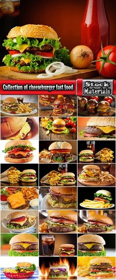 Collection of cheeseburger fast food hamburger sandwich 25 HQ Jpeg
