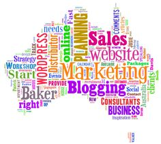 This is what the Baker Marketing Tagxedo cloud looks like. What does your online marketing material say about you?