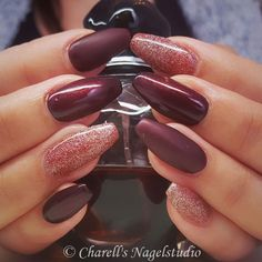 Different Kind of Dark Red Nails ❤