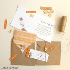 Invitación BODA Mariposa. Tarjeta díptica + Tarjeta regalo de boda + Presentación un botón de madera en forma de mariposa | Wedding Invitations Butterfly button