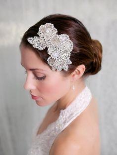Crystal Flower Bridal Hair Comb