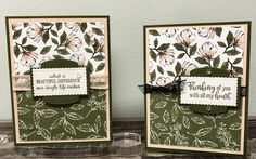 Karen McNall, Independent Demonstrator with Stampin' Up! Inspired By Gram, Sharon, Vermont  Let's use the Timeless Tulips stamp set to create a quick and easy card with simple sentiments.