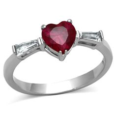 Gorgeous brand new heart shaped ruby ring, many sizes to choose from. Great for Valentine's Day! $25 with free shipping in the US. Comment if interested or email bevleesales@gmail.com