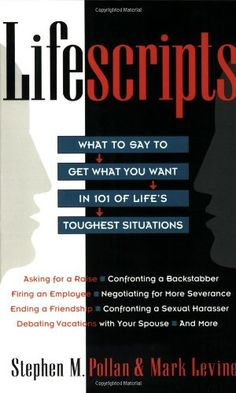 Lifescripts: What to Say to Get What You Want in 101 of Life's Toughtest Situations by Stephen M. Pollan http://www.amazon.com/dp/0020360487/ref=cm_sw_r_pi_dp_tiiEvb10TYZJF