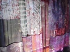 Hippie Tie Dyed Boho Silk Curtains by outoftheloftclothing on Etsy, $99.00