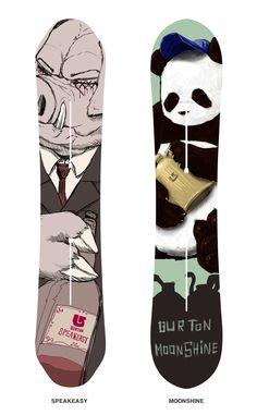 """Blind Pigs"" (snowboard designed by SnowSkool rep Kenji https://www.facebook.com/snowskool.kenji?ref=ts=ts) and Pandas"""