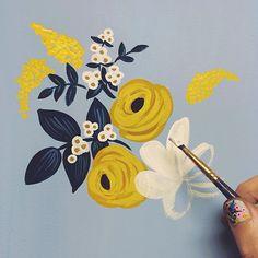 Yellow & White Flowers // via annariflebond
