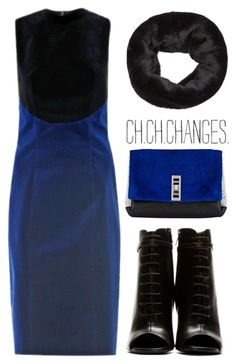 """""""CHRISTOPHER KANE Bi-colour velvet dress"""" by goldiloxx ❤ liked on Polyvore featuring Christopher Kane, Yves Saint Laurent, Proenza Schouler and Accessorize"""