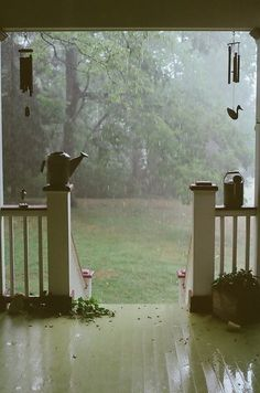 To sit on the porch and watch it rain.