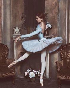 Ballerina in Blue (Bogdana Voloshina, model), photo by Berkas Lena, make-up by Nina Bercas, post production by Tatyana Obolenska #Dancing