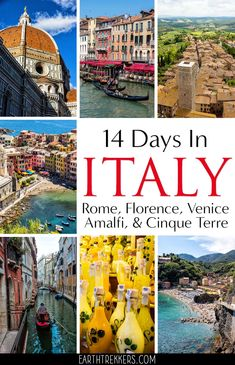Plan the perfect trip to Italy with this detailed Italia itinerary. With two weeks you can vi Italy Honeymoon, Italy Vacation, Italy Trip, Honeymoon Places, Italy Tours, Vacation Places, One Day In Florence, Florence Italy, Cool Places To Visit