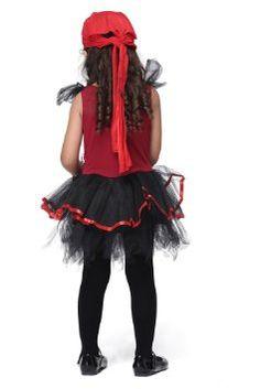 Nasbach Costume Déguisement Cosplay Enfant fille sans Bas Robe+ Coiffure pirate-rouge M(Stature: 105-115cm): Amazon.fr: Bébés & Puériculture
