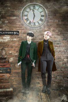 Harry Potter meets BTS.