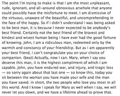 This speech was so beautiful. And then John's reaction when he realized Sherlock had just told him he loved him.
