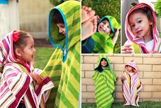 "Tutorial for the ""towel thingy"" (aka hooded towel, or towel poncho :) Diy Sewing Projects, Sewing Hacks, Sewing Tutorials, Sewing Crafts, Tutorial Sewing, Diy Tutorial, Sewing For Kids, Baby Sewing, Diy For Kids"