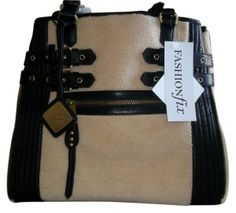 Mark & James by Badgley Mischka Paige Shearling Tote in Black
