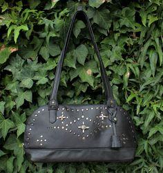 Rivets satchel  Rock and roll bag  Informal evening satchel