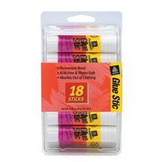 Avery Permanent Glue Stic, Regular size, .26 oz, 18 Pack (98001) Avery http://www.amazon.com/dp/B0000AQODP/ref=cm_sw_r_pi_dp_1STovb1X9288W