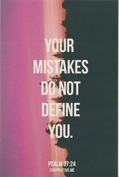 Our mistakes, our failures, our poor choices don't have to keep us from our destiny.