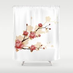 Cherry Blossoms II Shower Curtain