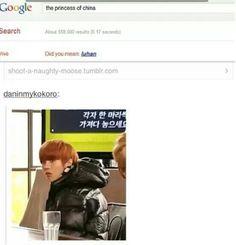 Hahahahaha Princess of China X'D ♡♡♡♡ #Manly Luhan