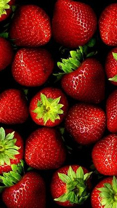 Fresh Strawberry Stack Fruit #iPhone #5s #wallpaper